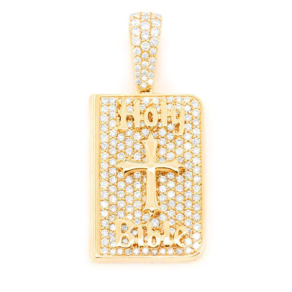 Closed Bible Book Pendant 14K   1.52ctw