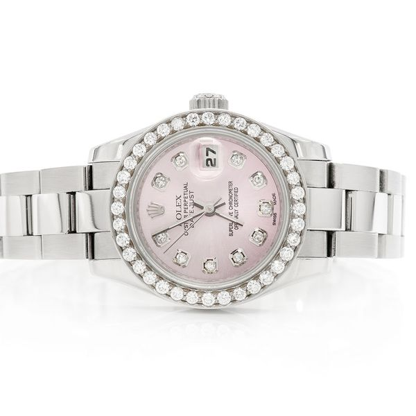 Pre-owned Rolex Datejust 26mm SS  0.98ctw