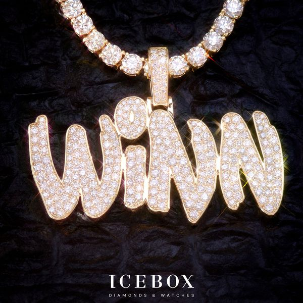 Custom Icebox Winn Pendant 14K