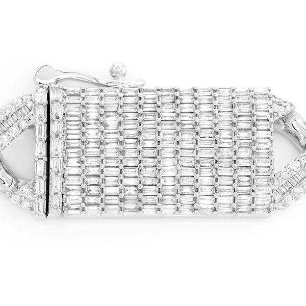 Icebox Diamond Baguette Cuban Clasp 14K 4.39ctw