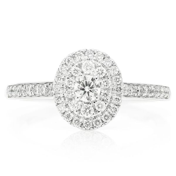 Oval Engagement Ring 14K   0.44ctw