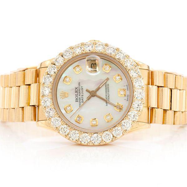Rolex Datejust 3.80ctw 18K