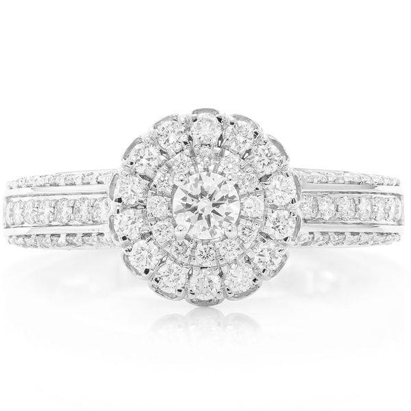 Flower Cluster Ring 14K   0.74ctw