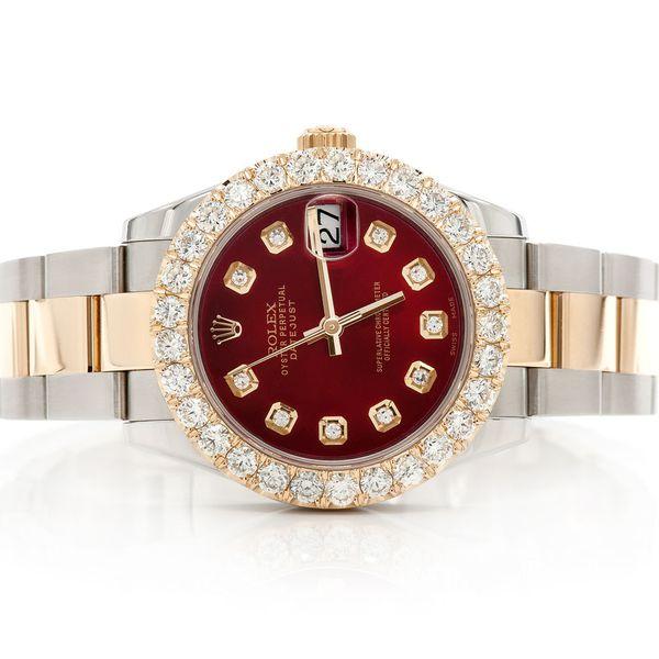 Rolex Datejust 2.87ctw 18K/SS