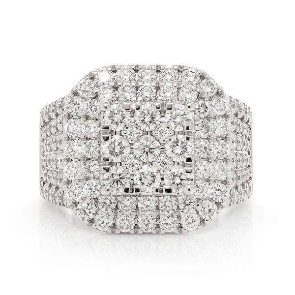 Diamond 14K White  Ring 14K   3.36ctw