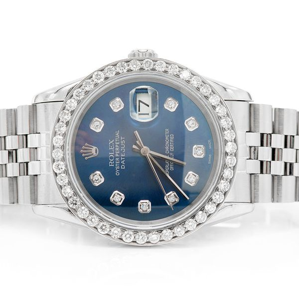 Pre-owned Rolex Datejust 36mm SS  2.11ctw