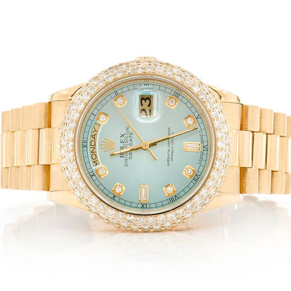 Rolex Day-Date 4.04ctw 18K