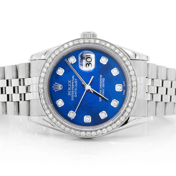Rolex Datejust 0.99ctw SS