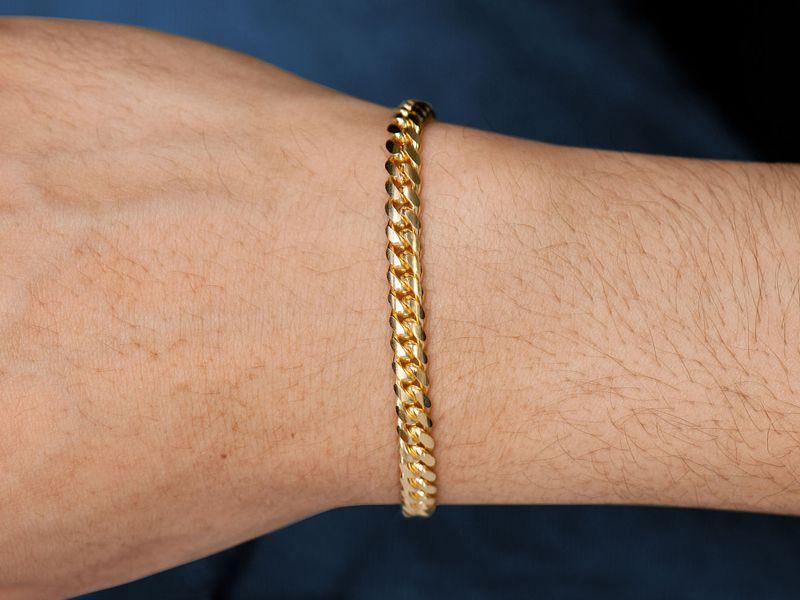 5mm Miami Cuban 14K   Bracelet
