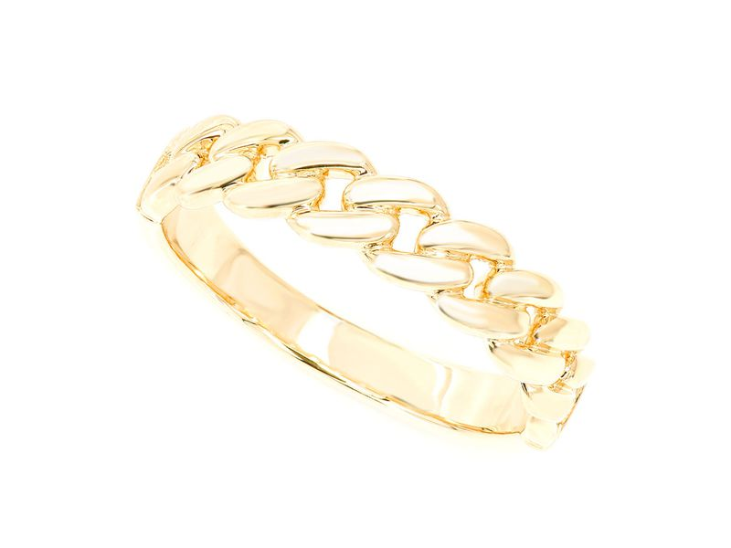 Raz Plain Cuban  Ring 14K   High-Polished