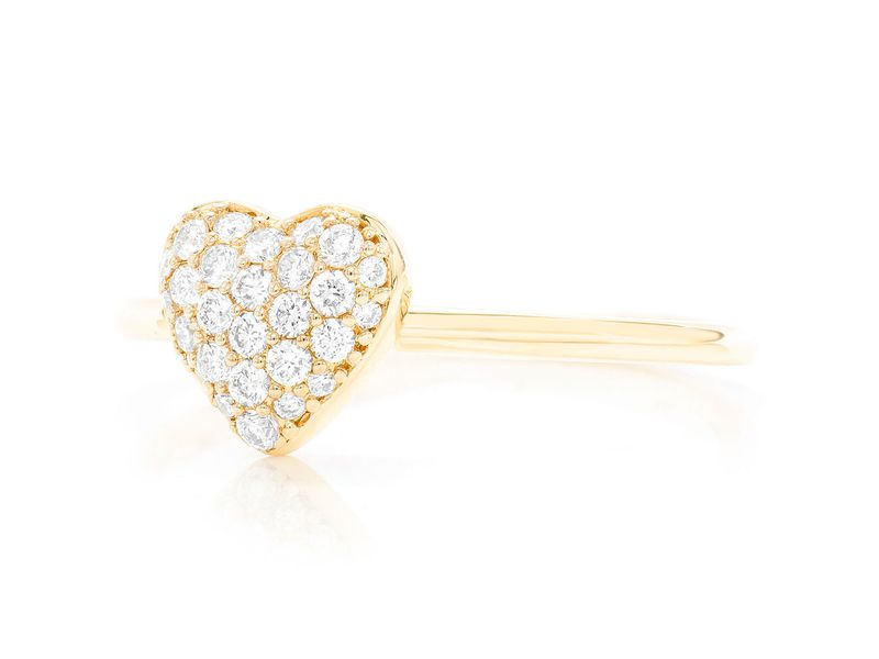 Pave Heart Nelie Collection Ring 14k   0.22ctw