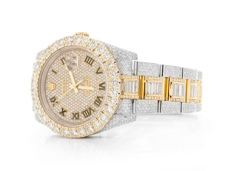 Pre-owned Rolex Datejust 36mm 18K/SS  19.36ctw