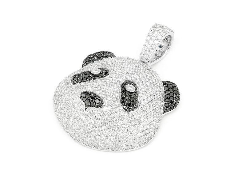 Panda Diamond Pendant 14K   5.64ctw