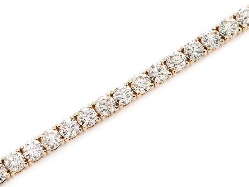 Tennis Bracelet 14K   10.60ctw