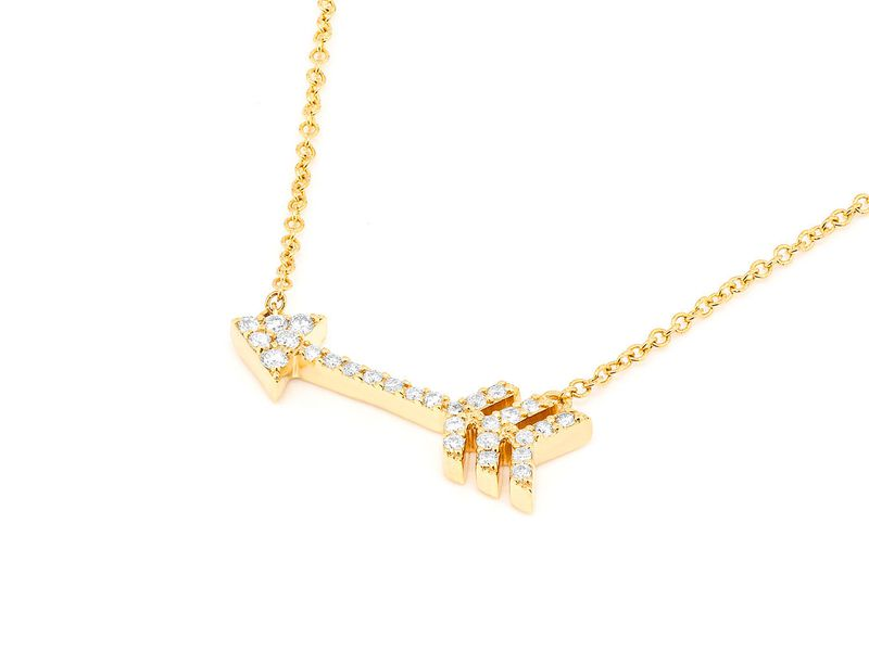 Arrow Pendant 14K   0.15ctw