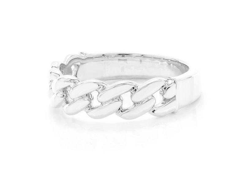 Raz Cuban Ring 14K   High-Polished