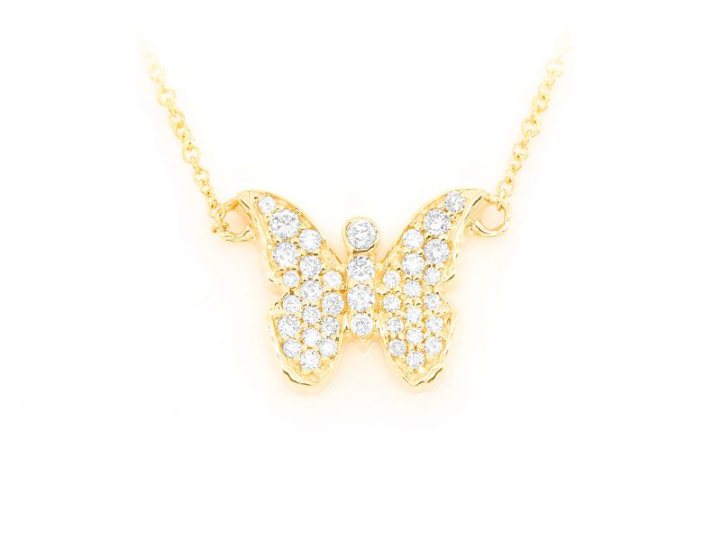 Butterfly Mica Collection Pendant 14K   0.21ctw