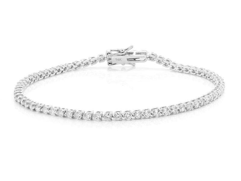 Diamond Bracelet 14K   2.60ctw