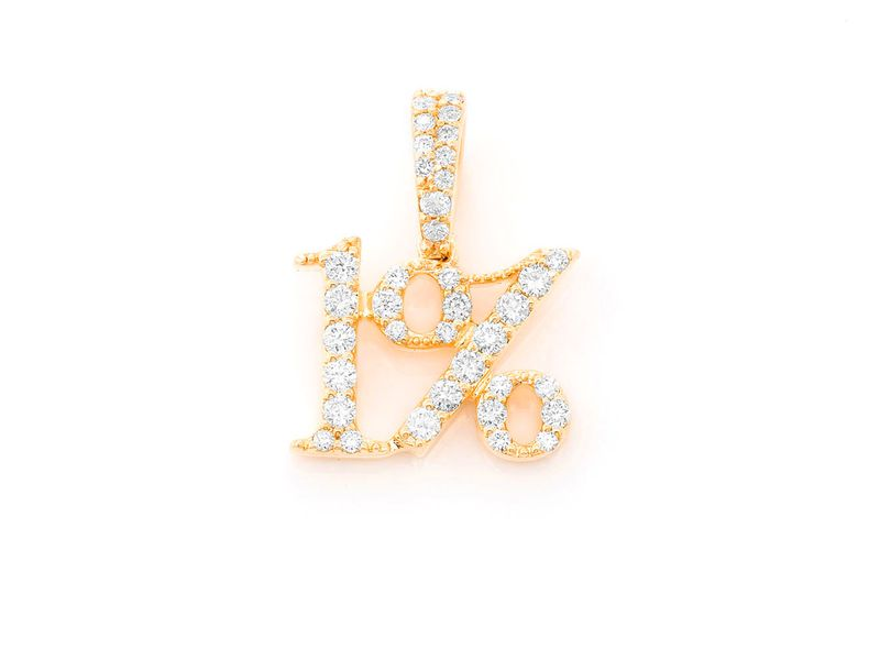 Top 1 Percent Pendant 14K   0.30ctw