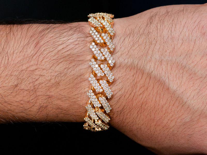 Cuban Bracelet 14K   15.63ctw
