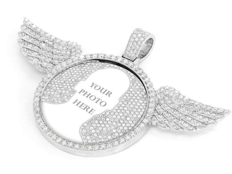 Winged Picture Memory Pendant 14K   10.50ctw