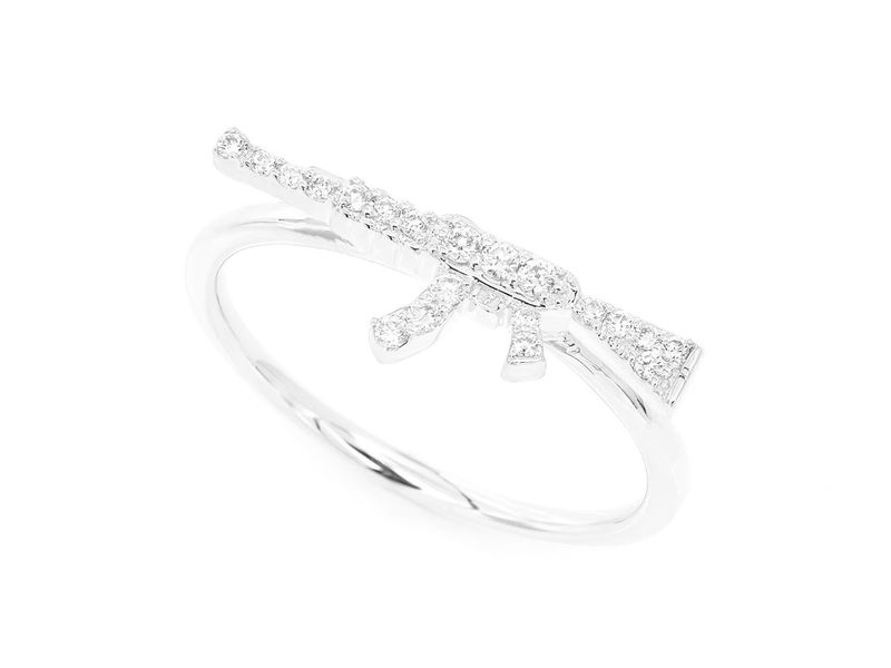 Mini Nelie Collection  Ring 14K   0.10ctw