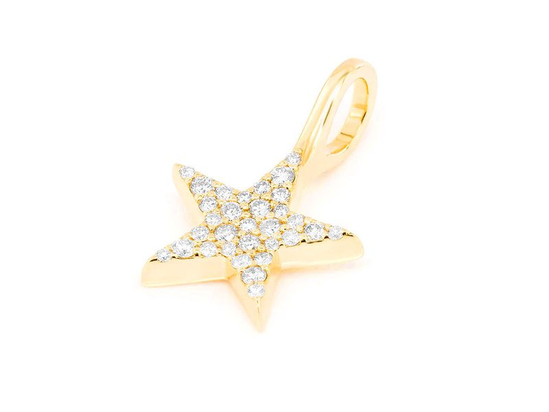 5 Point Star Pendant 14K   0.20ctw