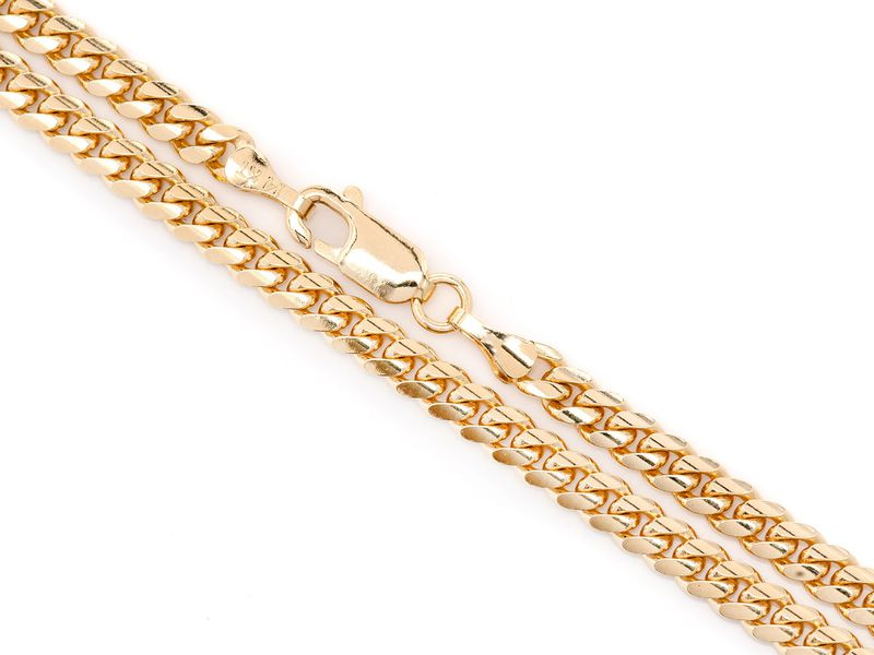 4mm Miami Cuban 14K   Bracelet