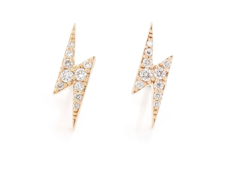 Icebox Lightning Bolt Earrings 14k 0 29ctw