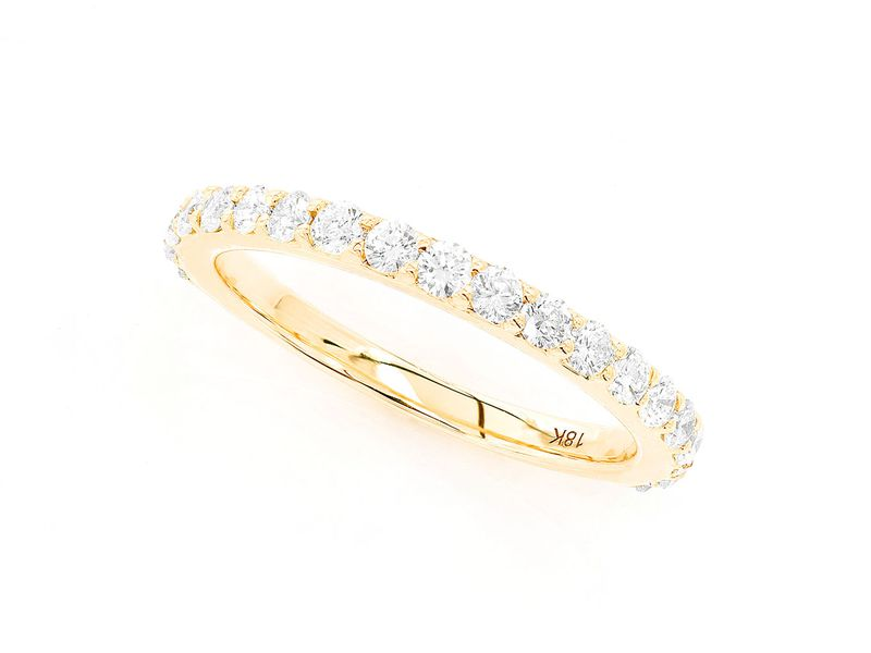 Aura 1 Row Band Ring 14K   0.60ctw