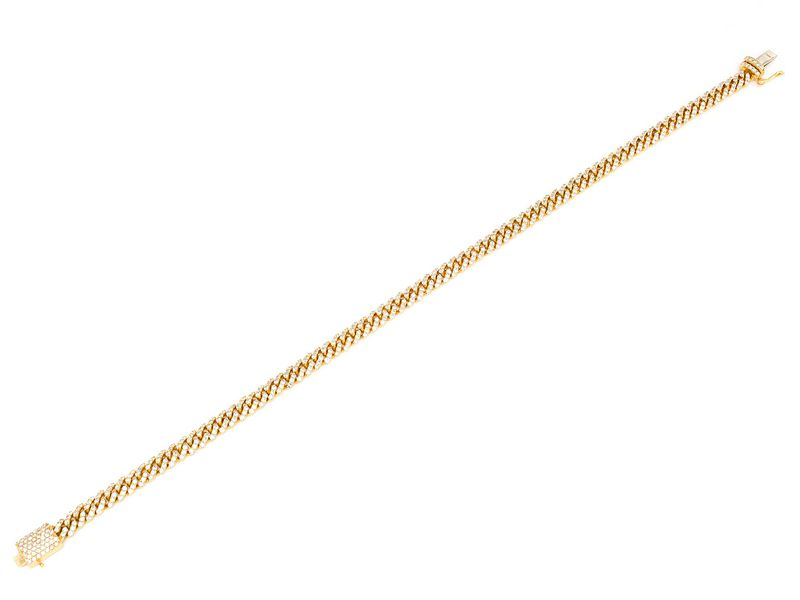 4mm Diamond Miami Cuban Bracelet 14K   2.37ctw