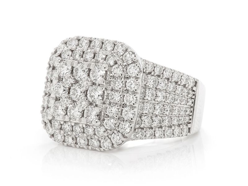 Diamond 14K White  Ring 14K   3.36ctw
