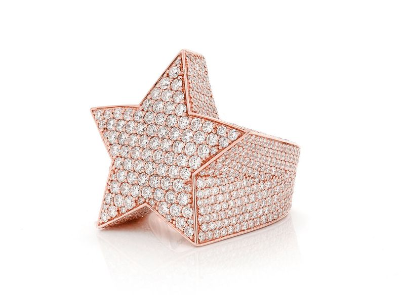 Super Star Ring 14K   8.43ctw