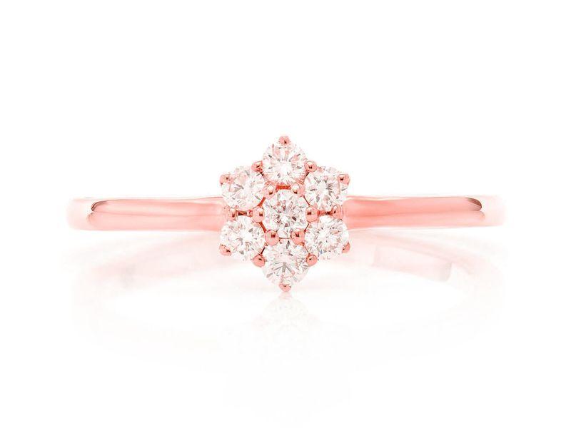 Flower Promise Ring 14K   0.24ctw