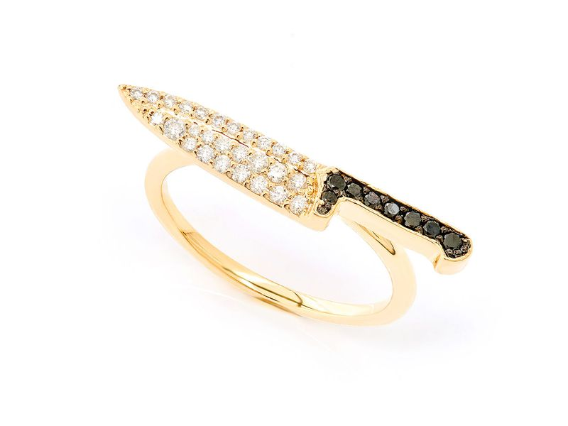 Chef's Knife Ring 14K   0.25ctw