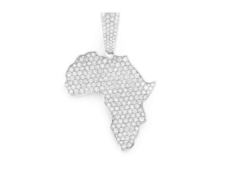 Africa Pendant 14K   3.88ctw