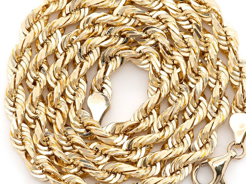 6mm Rope 14K   Chain
