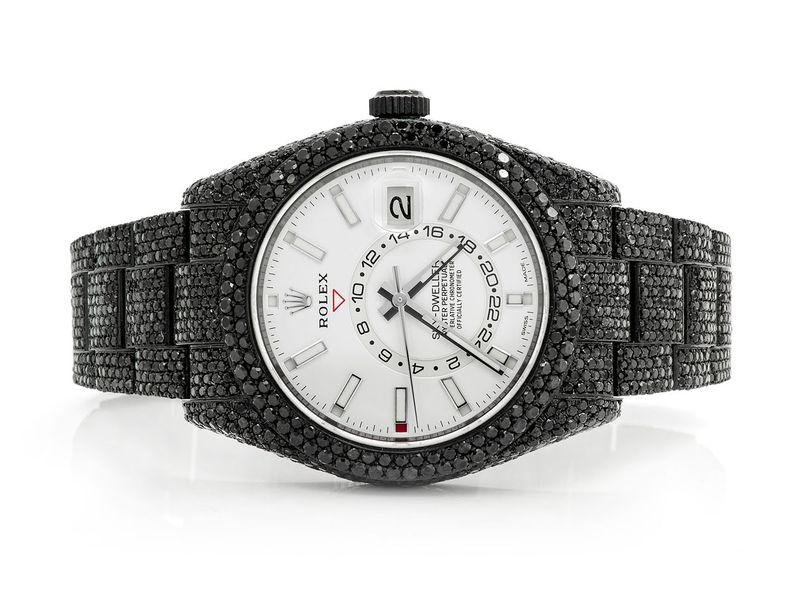 Rolex Sky Dweller Black Diamond   ICED OUT