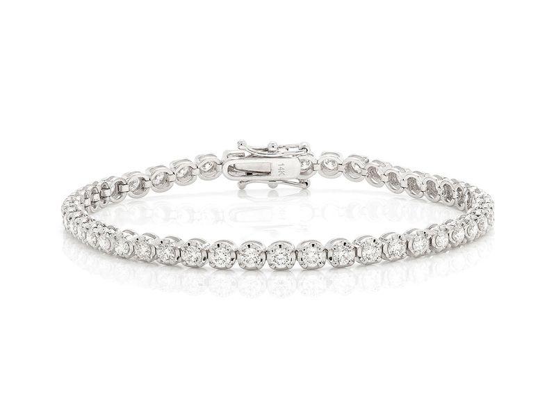 Tennis Bracelet 14K   3.36ctw