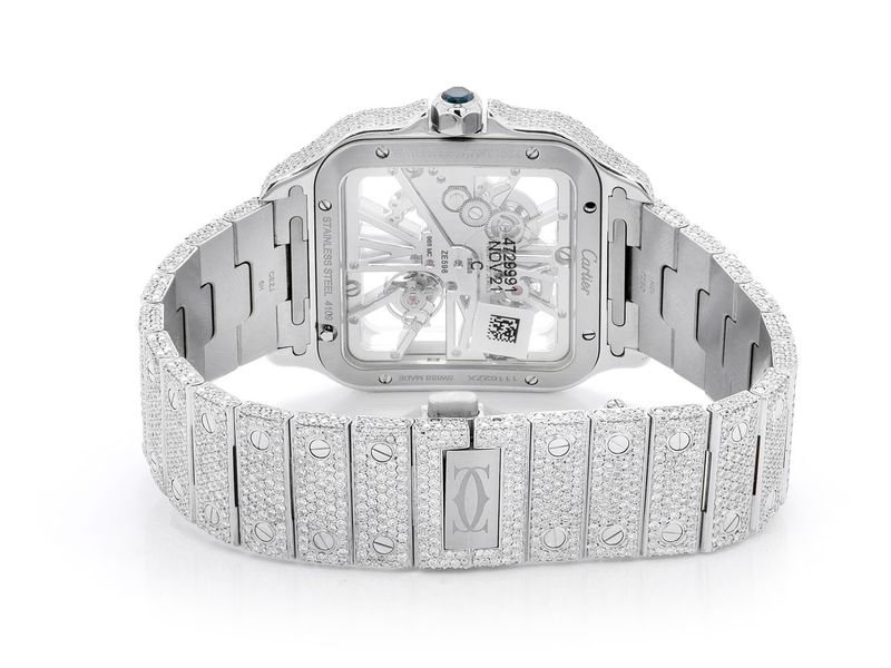Custom Cartier Watch -  Unisex 19.07ctw