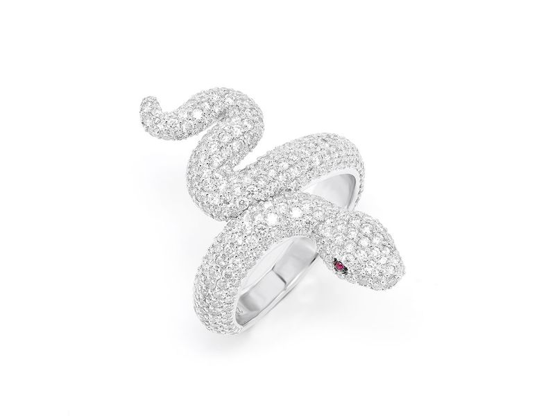 Snake Ring 14K   2.69ctw