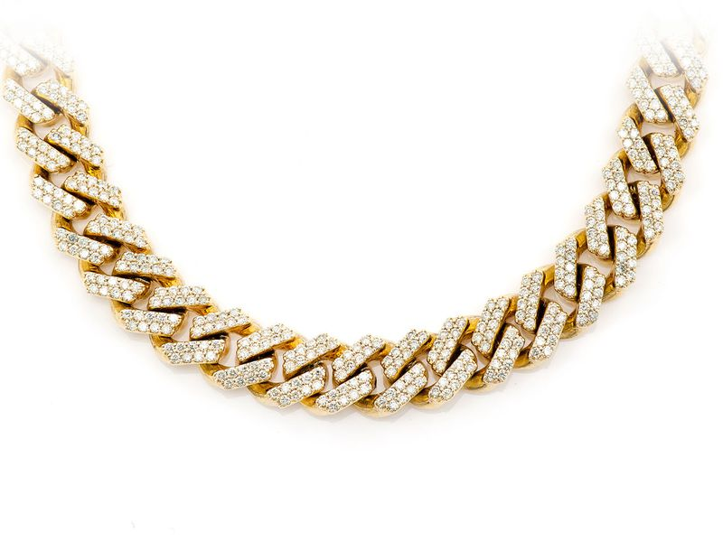 10mm Raised Cuban Necklace 14K   13.15ctw