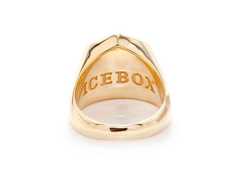 Crossbones Shield Ring 14K   0.60ctw