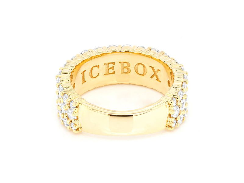 Millie 3 Row Band Ring 14K   2.45ctw