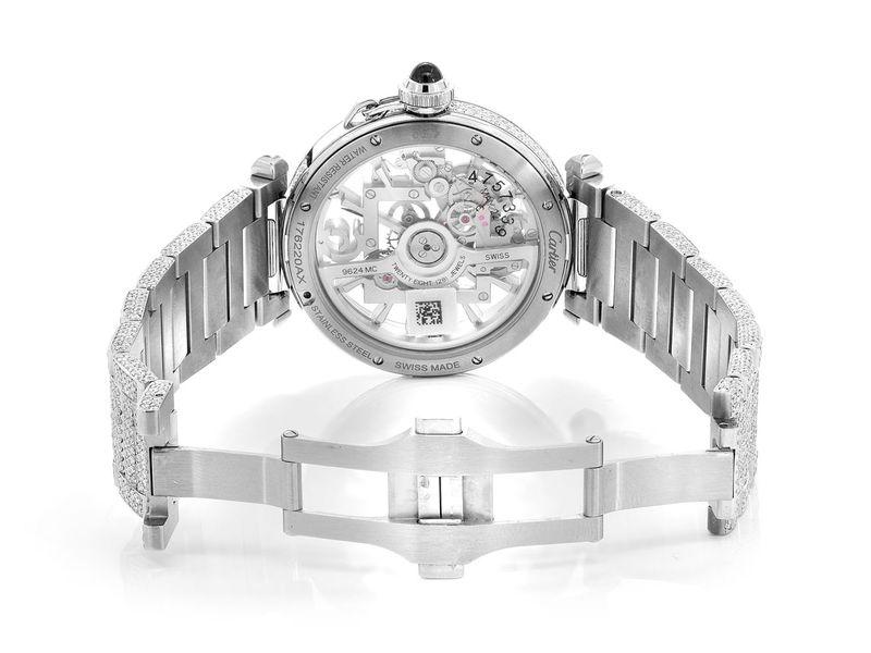 Cartier Skeleton Steel  32.40ctw