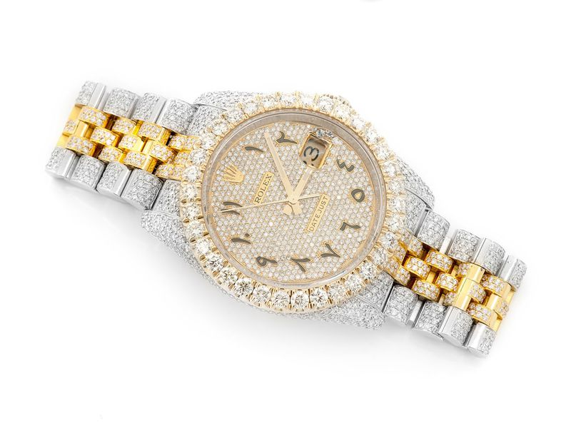 Pre-owned Rolex Datejust 41mm 18K/SS  12.54ctw