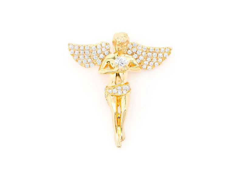 Angel Pendant 14K   0.33ctw