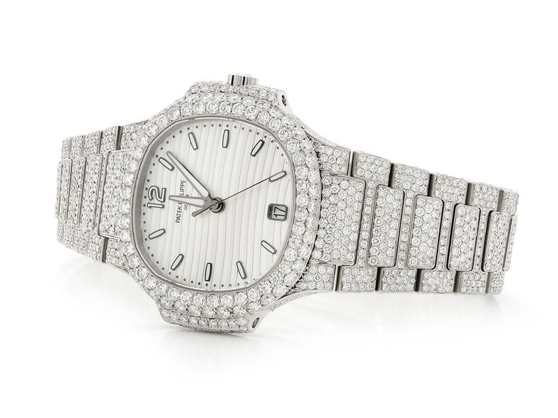 Pre-owned Patek Philippe Ladies 31mm St.Steel  ICED OUT