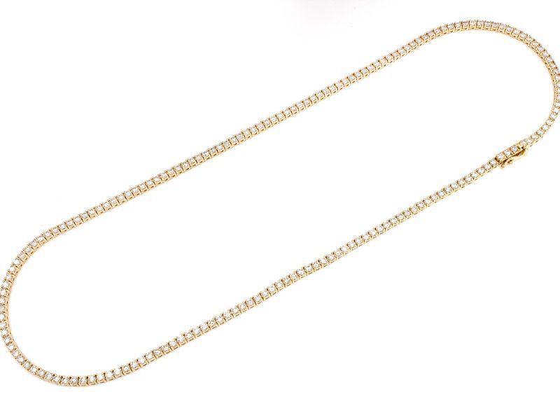 9pt Tennis Necklace 14K   14.15ctw
