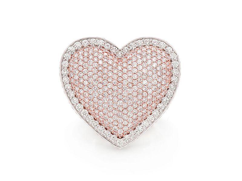 Super Heart Ring 14K   9.20ctw
